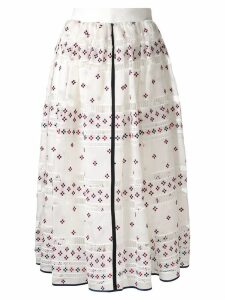 Rochas full printed skirt - White