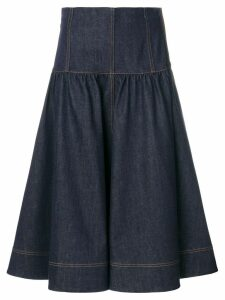 Fendi flared denim midi skirt - Blue