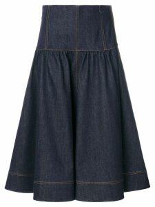 Fendi flared denim midi skirt - Blue