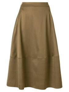 Luisa Cerano flared midi skirt - Green