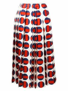 Gucci polka-dot pleated skirt - Red