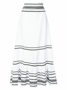Lisa Marie Fernandez full-length stripe skirt - White