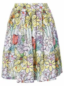 Moschino paint by number print skirt - Multicolour