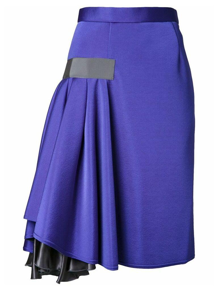 Kolor ruffle detail skirt - Blue