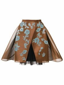 Delpozo crinoline lace skirt - Brown