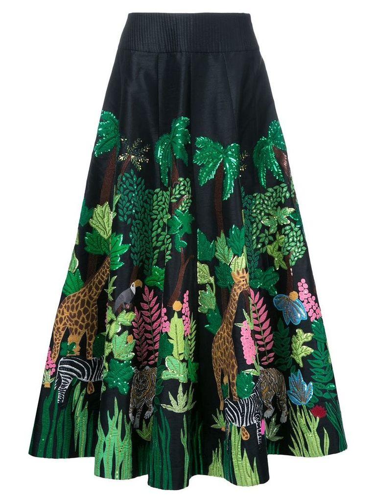 Manish Arora Safari embellished full skirt - Black