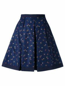 Moncler flower print skirt - Blue