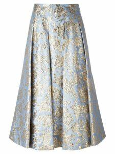 MSGM floral print skirt - Blue