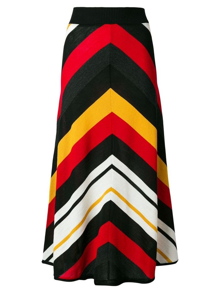 MSGM striped knitted skirt - Black