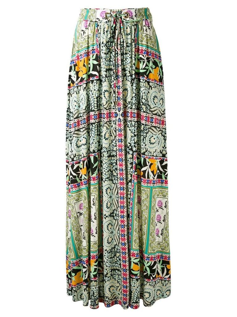 Etro floral print pleated skirt - Multicolour