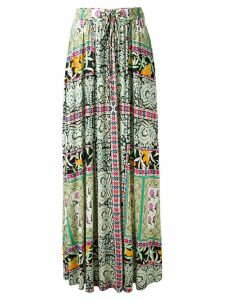 Etro floral print pleated skirt - Multicolour