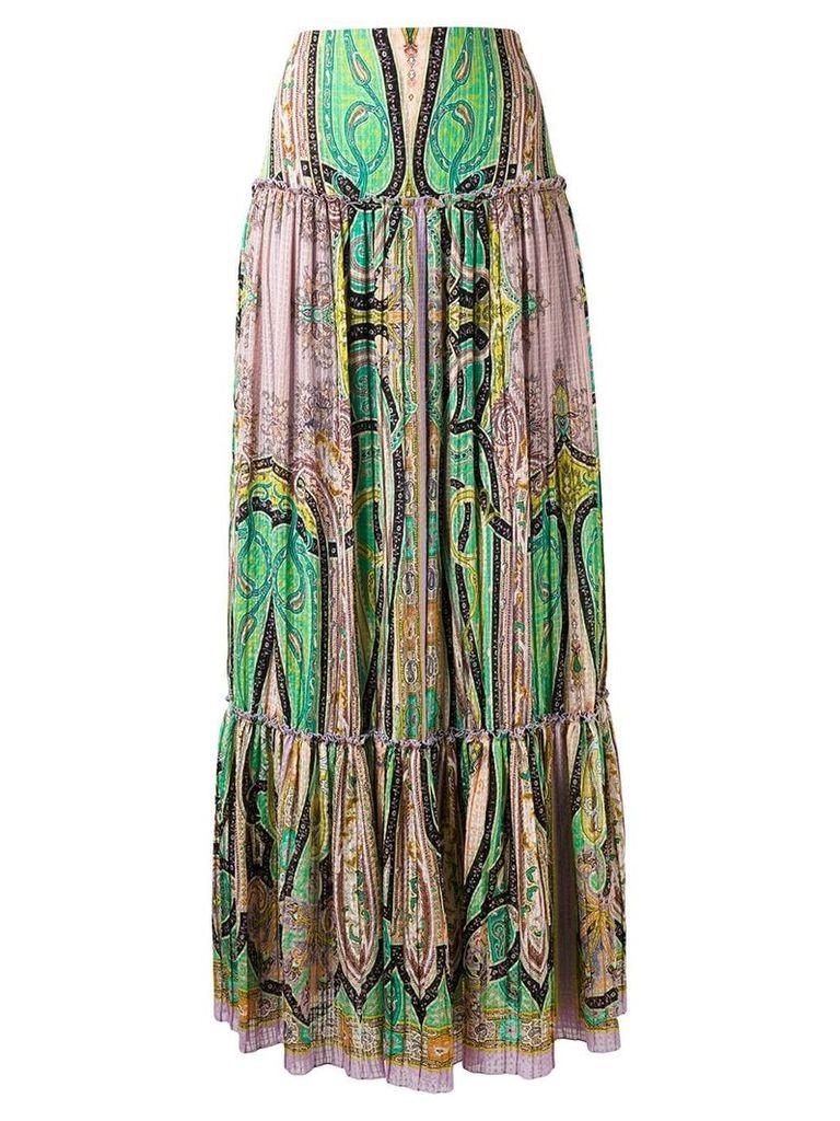Etro abstract print peasant skirt - Multicolour