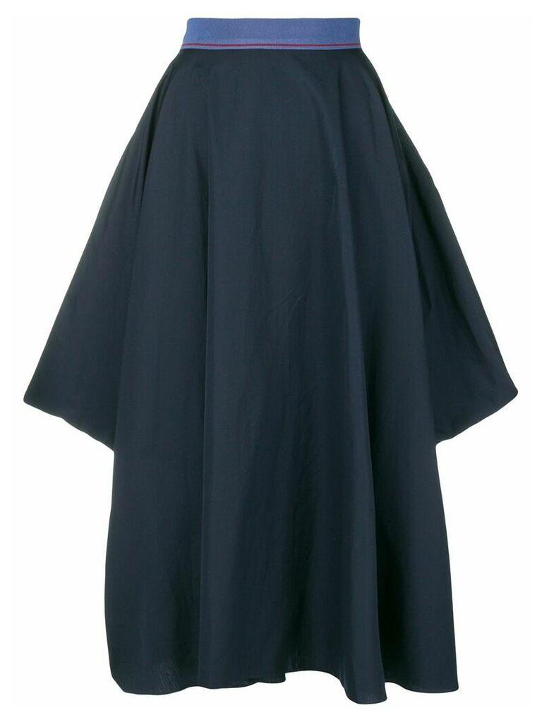 Roksanda flared asymmetric skirt - Blue