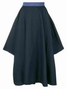 Roksanda flared asymmetric skirt - Blue