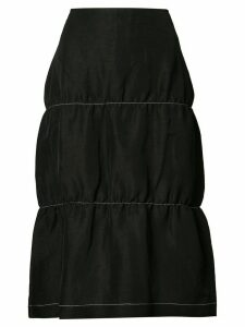 Wales Bonner flared style skirt - Black