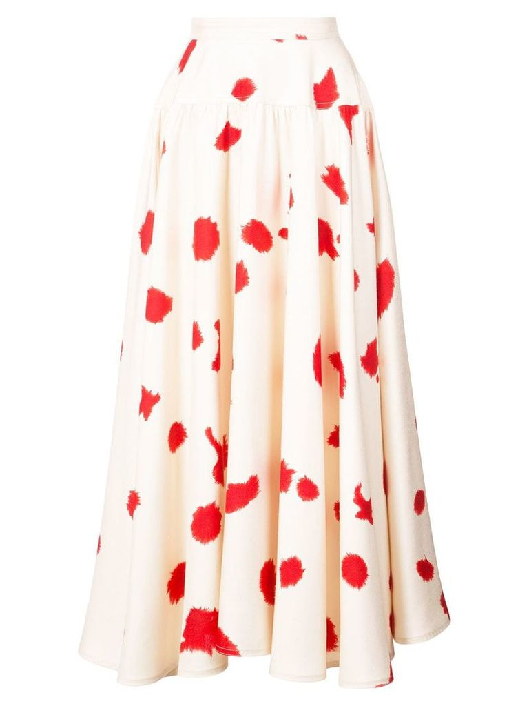 Calvin Klein 205W39nyc ink splatter midi skirt - Neutrals
