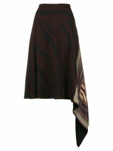 Roberto Cavalli handkerchief midi skirt - Red
