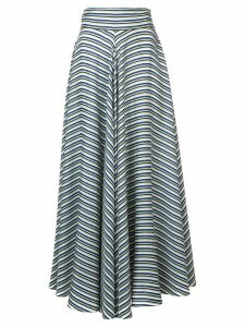 Diane von Furstenberg high waisted striped skirt - Green