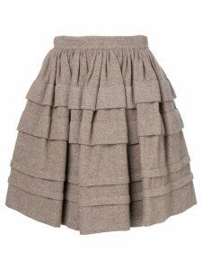 Ermanno Scervino layered mini skirt - Brown