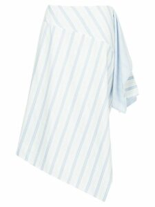 Nehera flared striped skirt - White