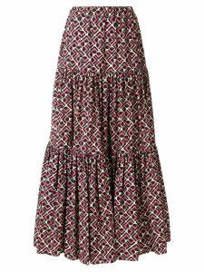 La Doublej tiered peasant skirt - Black