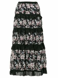 Giuseppe Di Morabito tiered floral skirt - Black