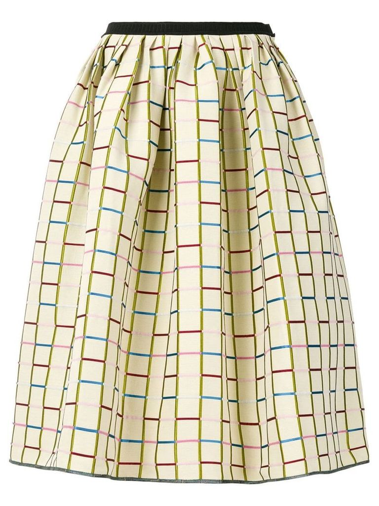 Antonio Marras patterned full midi skirt - Neutrals