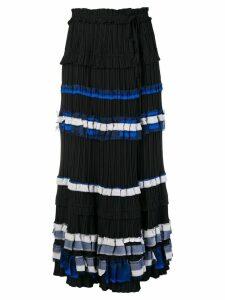 3.1 Phillip Lim striped full skirt - Black