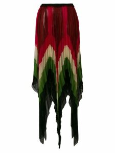 Gucci jagged micro pleated skirt - Multicolour