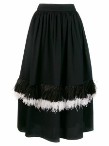 Christopher Kane feather princess skirt - Black