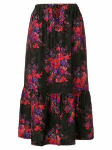 McQ Alexander McQueen floral flared skirt - Black