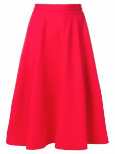 MSGM elasticated full skirt - Red