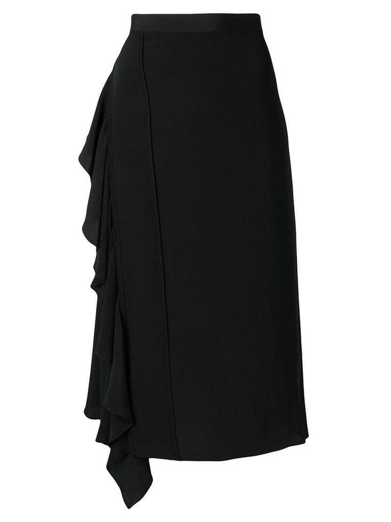 Nº21 flared midi skirt - Black