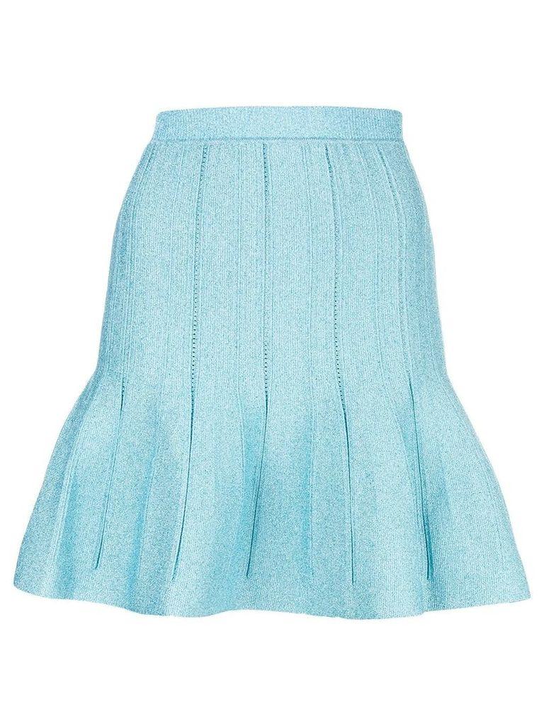 Alberta Ferretti fitted flared skirt - Blue