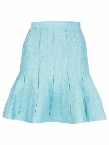 Alberta Ferretti fitted flared skirt - Blue