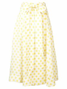 Lisa Marie Fernandez polka dot full skirt - Yellow