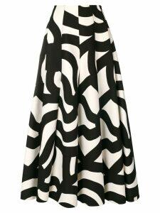 Junya Watanabe geometric print circle skirt - Black