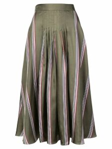 Roksanda striped flared midi skirt - Green