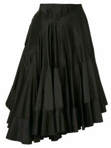 Junya Watanabe Comme des Garçons Pre-Owned ruffle skirt - Black
