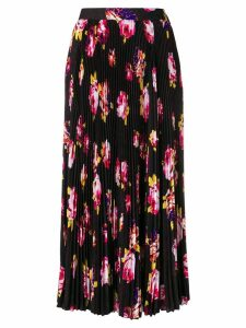 MSGM pleated floral print skirt - Black