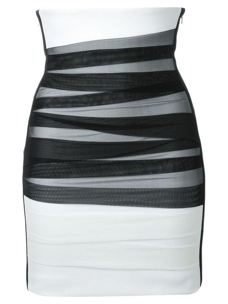 David Koma high waisted tulle bandage skirt - Black