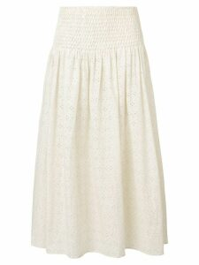 Marysia Abacos broderie anglaise skirt - Neutrals