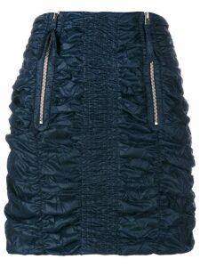 JW Anderson Smocked Mini Skirt - Blue