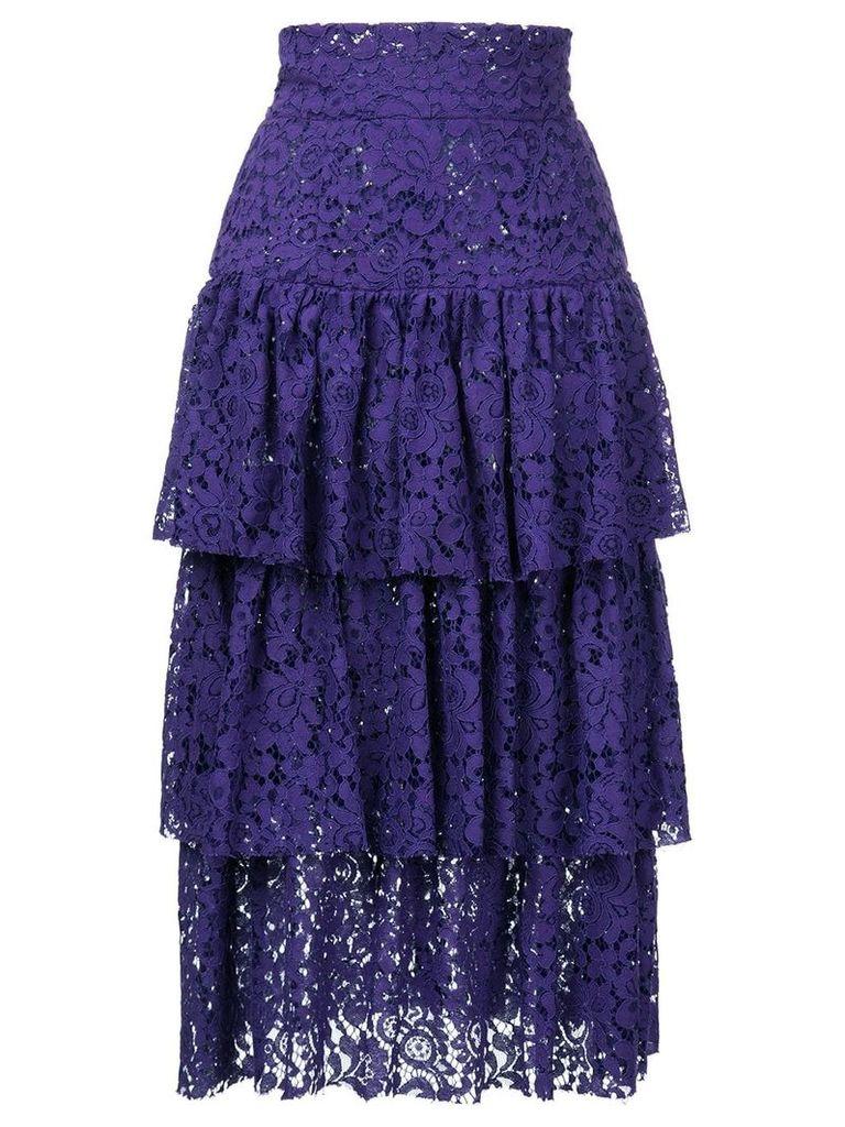 Bambah layered midi skirt - Purple