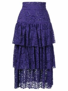 Bambah layered midi skirt - Purple
