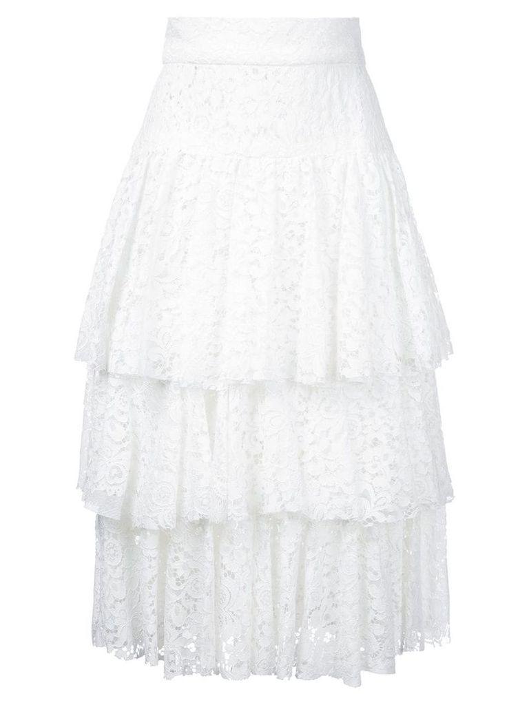 Bambah layered midi skirt - White