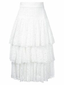 Bambah layered midi skirt - White
