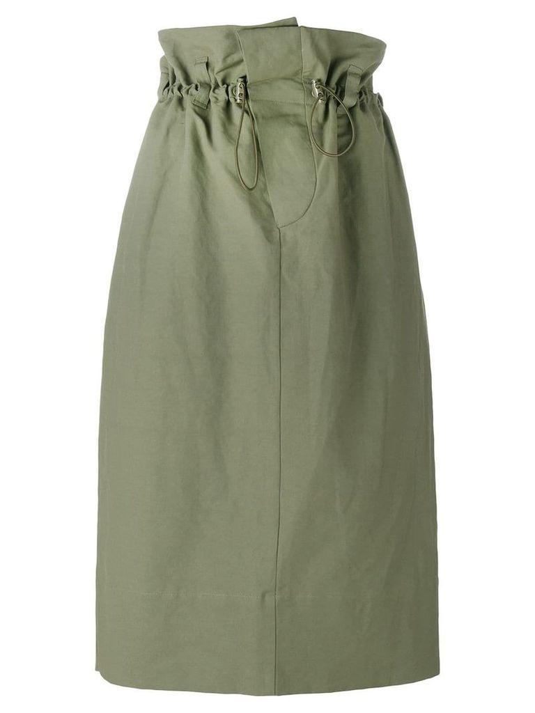 Stella McCartney paper bag waist skirt - Green