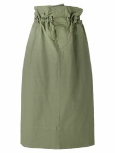 Stella McCartney paper bag waist skirt - Green