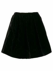 Fendi Quilted Velvet Mini Skirt - Black